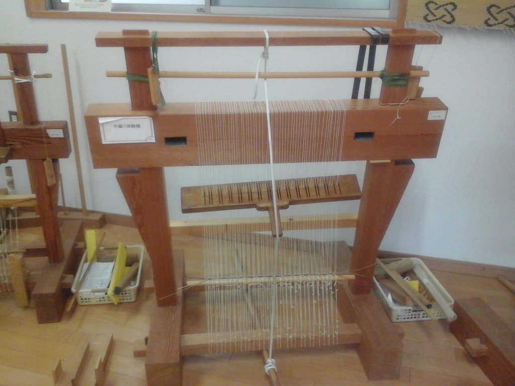 手織り体験機