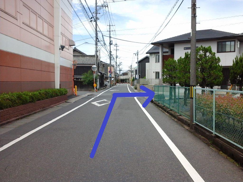 「tochito茶屋町展示場」道順2