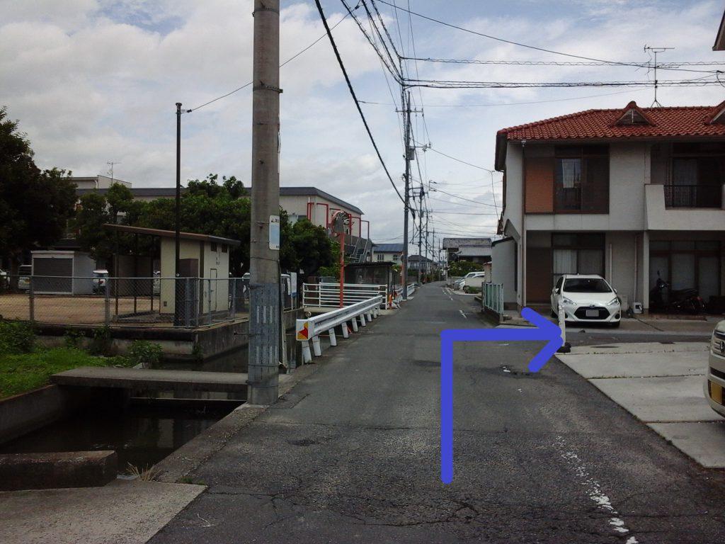 「tochito茶屋町展示場」道順4