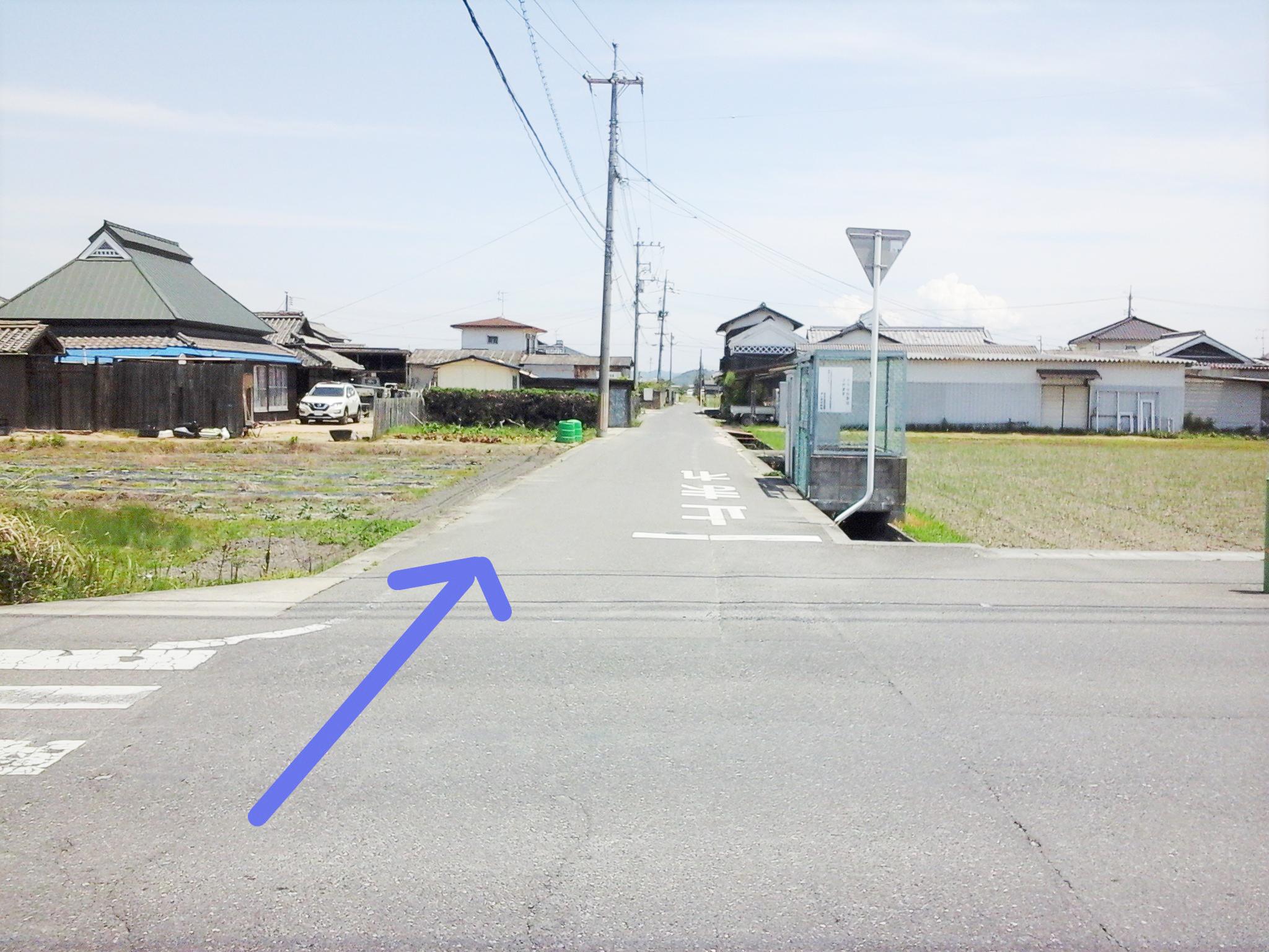 漱石ロード広場 道順2