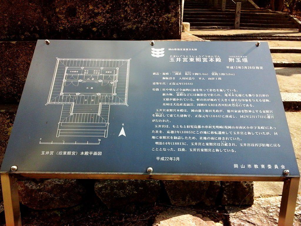神社の説明看板