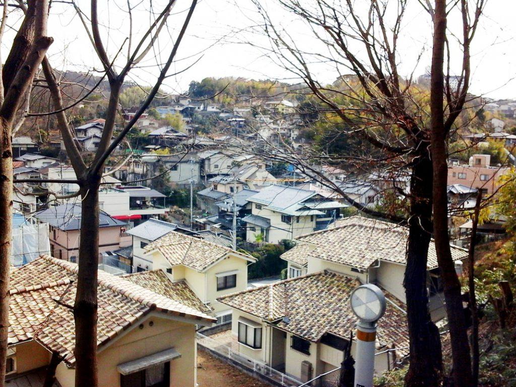 門田文化町の街並み