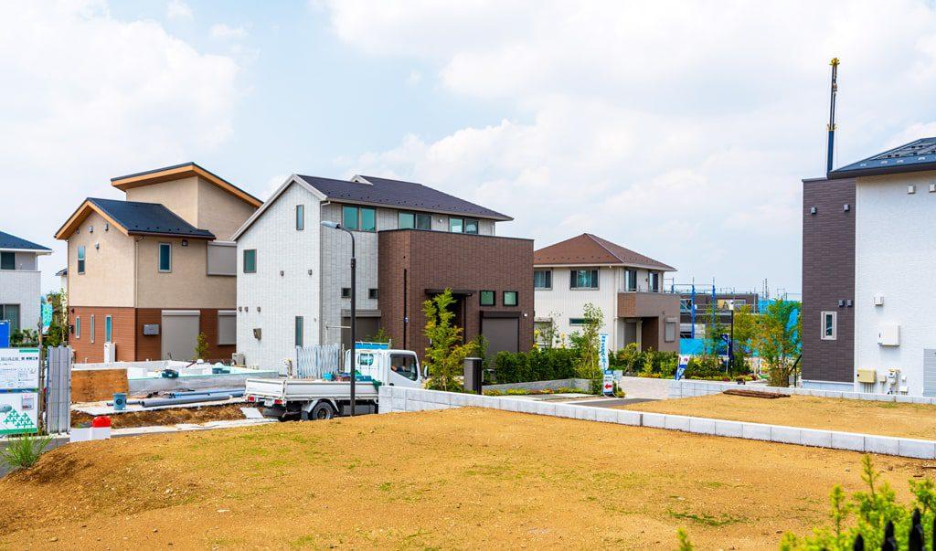 分譲住宅建築現場