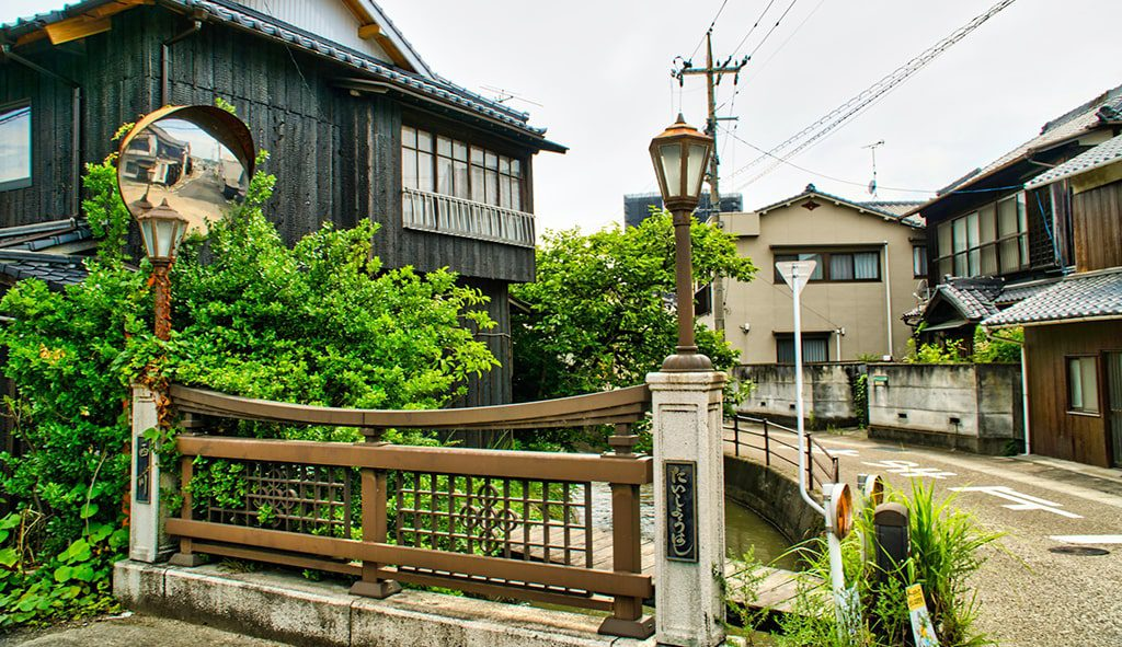 西大寺の古き良き街並み